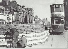 Old underground toilets in Donegall Sq North are converted into air raid shelters during WW2. .jpg (1698×1227)