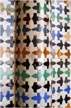 Alhambra tile tessellations, Granada, Spain.