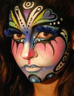 When you think about face painting designs, you probably think about simple kids face painting designs. Many people do not realize that face painting designs go Face Painting Tips, Face Painting Designs, Paint Designs, Painting Art, Face Paintings, Maquillage Halloween, Halloween Makeup, Scary Halloween, Zombie Makeup