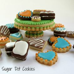 Mini Dessert and Cake Stand Cookies