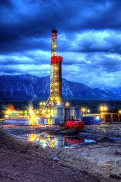 Patterson Oil Rig. Drilling near Hotchkiss, Colorado.