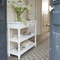 console 3 tiroirs 3 paniers blanche pinterest diy furniture vintage country and country farmhouse