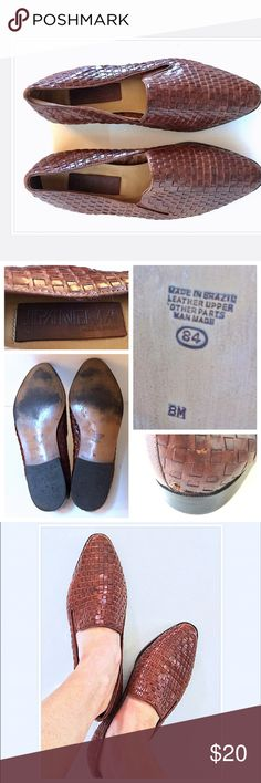 Vntg 80s IPANEMA Woven Lthr Loafer//Made in Brazil Vintage 80s IPANEMA Woven Brown Leather Loafer//Made in Brazil//Size 8 + Medium Width//Leather Upper + Other Parts Man Made//In Good Condition with Normal Wear + Scuff on Back Heel (see pic)! Let me know if you need add'l info or pics✌ Ipanema Shoes Flats & Loafers