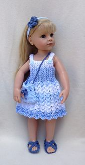 Ravelry: 41 Pretty Pinafores for 18 inch Dolls pattern by Jacqueline Gibb