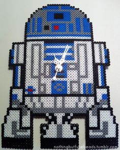 R2-D2 Clock perler bead design