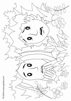 The Fall - Genesis 3 - Free printable Bible lesson for preschoolers - Trueway Kids Sunday School Teacher, Genesis 3, Adam And Eve, Bible Lessons, Colouring Pages, Coloring Pages For Kids, Free Printables, Crafts For Kids, Preschool