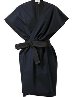 Lanvin Belted Cotton-Silk Jacket Dress