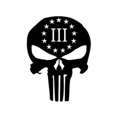 UR Impressions Blk 3 Percenter Punisher Skull Decal Vinyl Sticker Graphics for Cars Trucks SUV Vans Walls Windows Laptop Car Decals, Bumper Stickers, Vinyl Decals, Window Decals, American Flag Decal, Punisher Skull, Insulated Cups, Molon Labe, Stickers
