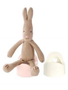 11-2100-00 White maileg miniature white potty for micro rabbit and bunny