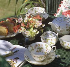my Wedgwood Wild Strawberry tea set