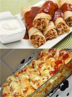 Panqueca deliciosa de frango sem farinha é leve e Muito Saborosa: receita da massa + recheio – Caderno de Receitas