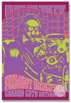x Sunday, Sunday, Sunday! Redwood City California, Best White Shirt, San Francisco California, Beautiful Posters, Rock Posters, Psychedelic Art, Drag Racing, Golden Gate, Giclee Print