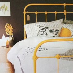 Real living magazine August 2011 - Scout House Cast Iron Bed