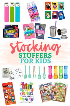 From creative, to STEM, to practical to fun, there& a stocking stuffer idea for every kid! // Stocking Stuffer Ideas for Kids // Kids Stocking Stuffers Stocking Fillers For Kids, Stocking Stuffers For Teens, Christmas Stocking Fillers, Christmas Gifts For Kids, Best Gifts For Kids, Christmas Ideas, Christmas Holiday, Holiday Ideas, Holiday Gifts