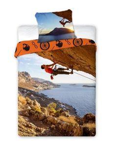 Bavlnené posteľné obliečky Horolezec 140 x 200 cm Bed Sheets, Outdoor Decor, Bed Linens, Linen Bedding