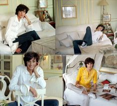 ines de la fressange - ah, the classic white shirt. Don't be without it. (and yellow too)