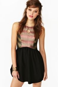 Glam Brocade Dress