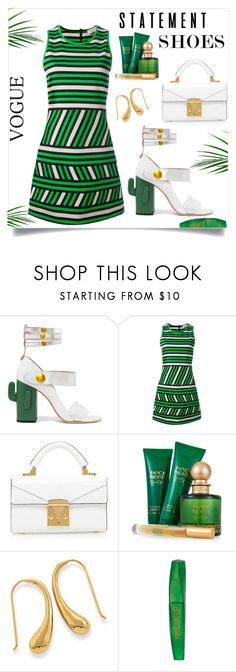 """STATEMENT SHOES STYLE"" by qstyled ❤ liked on Polyvore featuring MR by Man Repeller, Lanvin, Jessica Simpson and Rimmel"