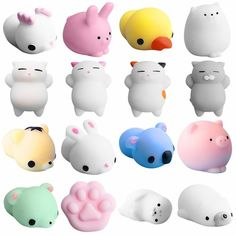 Toys & Hobbies Gags & Practical Jokes Mini Color Kawaii Squishy Cute Cat Antistress Ball Squeeze Soft Hand Pinch Kids Adult Toy Stress Reliever Decor Child Baby Gifts