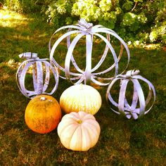 Halloween Fairytale Pumpkin for Fall PAIR SPECIAL from Recycled Wine Barrel Metal Hoop Rings Wine Barrel Rings, Wine Barrels, Thanksgiving Decorations, Thanksgiving Ideas, Fall Decorations, Wine Barrel Furniture, Barrel Projects, Wine Craft, Fall Harvest
