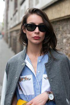 Paris street style boyfriend shirt