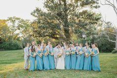 bridesmaid dress, turkish blue