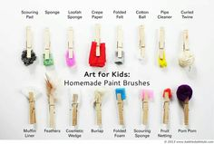 Homemade paint brushes