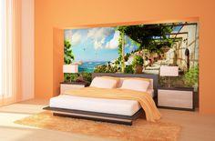 Fotomural terraza al mar #fotomural #mural #pared #decoracion #deco #TeleAdhesivo