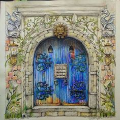 Take a peek at this great artwork on Johanna Basford's Colouring Gallery! Enchanted Forest Book, Enchanted Forest Coloring Book, Johanna Basford Books, Johanna Basford Coloring Book, Secret Garden Coloring Book, Coloring Book Art, Adult Coloring, Coloring Tips, Colouring