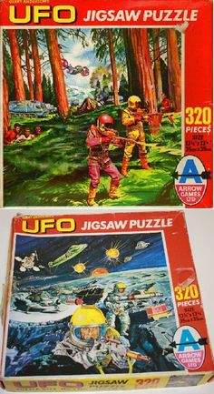 What could be better than jig-saw puzzles of your favourite programme?I put these together so many times I could do them in my sleep. Childhood Toys, Old English, Ufo, Jigsaw Puzzles, Nostalgia, Sci Fi, Packaging, Sleep, Posters