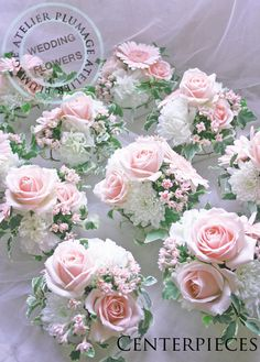 """Tokyo atelier specializing in wedding bouquets and venue decorations- Tokyo& wedding bouquet and venue decoration atelier """"Purage"""" - Flower Centerpieces, Wedding Centerpieces, Wedding Table, Our Wedding, Wedding Decorations, Country Wedding Bouquets, Diy Wedding Flowers, Bridesmaid Flowers, Deco Floral"""