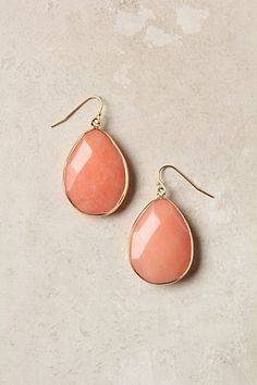 Gold Rung Earrings #anthropologie