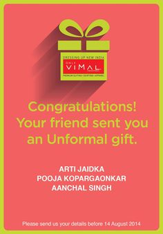 Congratulations to the winners of the Unformal Gifting Contest! In the happiness, please don't forget to DM us your contact details