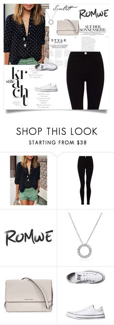 """""""Polka Dot Blouse"""" by ashantay87 on Polyvore featuring Lipsy, Michael Kors and Converse"""