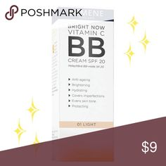 NIB Lumene Bright Vitamin C BB Cream w/SPF 20 Lumene Bright Vitamin C BB Cream w/SPF 20-Light  Anti-aging, brightening, covers imperfections, evens skintone, hydrates & protects skin from the sun. Light, moisturizing helps to even out the skin's natural tone & correct small imperfections. SPF 20 protects against the harmful rays of the sun. Your skin will have a natural, even tone. Suitable for all skin types 1.7oz  Your orders are a blessing & I'm grateful for your business! Thanks for…