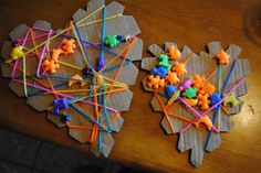 cool art projects for kindergarten | Art for Itty Bitties: Yarn and Beads...Who Doesn't Love Those?