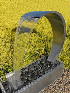 WAVE Stainless Steel Water Feature - Freestanding