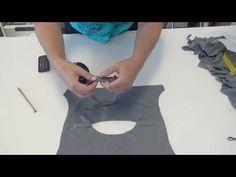 tutorial 43: halsbiesje in een t-shirt zetten - YouTube