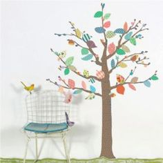 Gorgeous tree wall sticker on Petit Home. The poetic Mimi'lou tree wall sticker would enhance any nursery or kids' bedroom decor. Easy to apply. Girls Bedroom, Bedroom Decor, Baby Deco, Nursery Wall Decals, Wall Murals, Decorate Your Room, Inspiration For Kids, Little Girl Rooms, Kids Decor