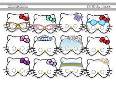 Hello Kitty Printable Maskspropmasksbirthday by HolidayPartyHall