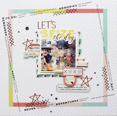 Hello everyone! I'm here today with two layouts that I created using the new Live More collection! I really love every piece in this amazing collection, especially the patterned papers, so I decided to use two of my favorites as the base for both of my layouts today. For this first layout, I started by choosing the patterned paper piece that has the large square around the edges. It just sets the stage for the perfect design whether you choose to place your photo in the middle, like I di...