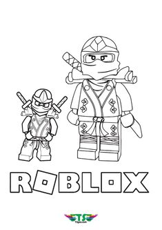 Roblox Cartoon Coloring Page Only on Tsgos