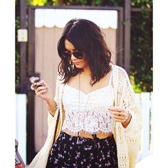 That crop top :) Vanessa Hudgens