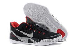 f7ca3f67810e Nike Kobe 9 EM Black White-Laser Crimson-Wolf Grey For Sale Top Deals  236120