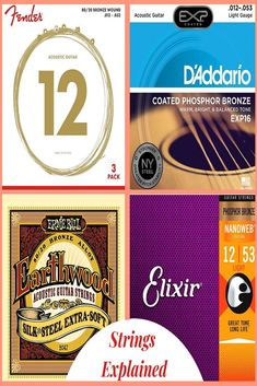 You can't just take and slap any string set onto your guitar. So, we are going to examine in-depth what makes Guitar Tips, Guitar Lessons, Acoustic Guitar Strings, Acoustic Guitars, Cheap Guitars, Steel Guitar, Guitar Tattoo, Guitar Accessories, Classical Guitar
