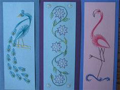 Colourful stitched bookmarks | Prick And Stitch Is My Craft