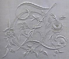 Embroidered monogram | From an old, long out-of-print Italia… | Flickr
