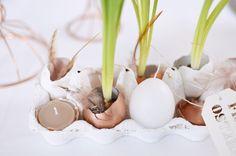 Frühstückstisch-Ostern-Brunch-puppenzirkus-Eierschalen-bepflanzt-muscari-kupfer-eier-eggs-diy  http://puppenzirkus.com/fruehstueckstisch-fuer-den-ostersonntag/
