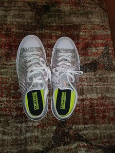 7d1381fc0d4 Womens size 10 Converse All Star Silver Chuck Taylors  fashion  clothing   shoes