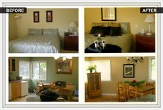 Before & Afters - ShoeString Home Staging--  why just stage your home when you are selling-- stage it now so you can enjoy :)